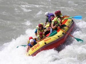Rafting in Altai Mountains
