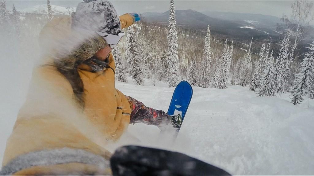 Snowboarding in Siberia