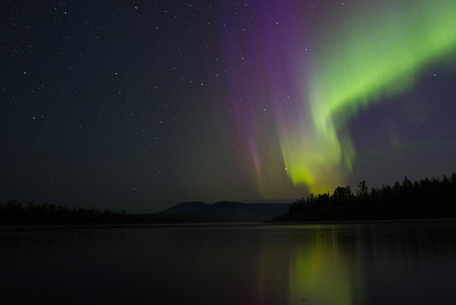 Aurora at Putorana Plateau