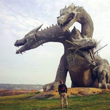 Unusual monument in Russia