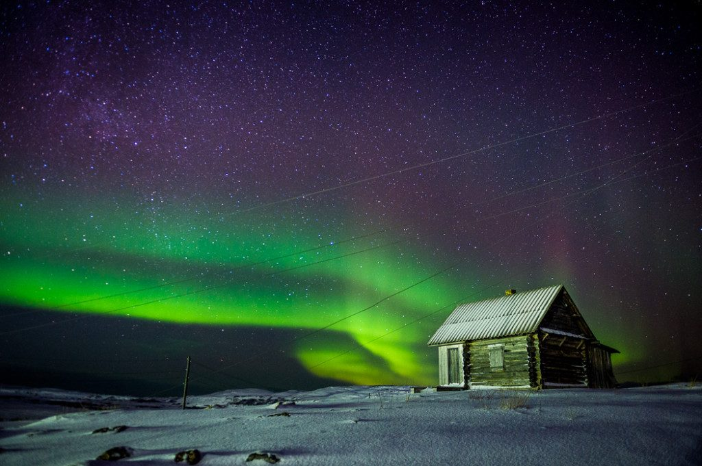 Nothern lights in Teriberka